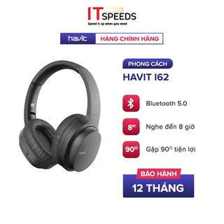 Tai Nghe Bluetooth Headphone HAVIT i62, Driver 40mm, Bluetooth 5.0, Nghe Đến 8H, Gập Gọn 90 - Chính Hãng BH 12 Tháng thumbnail
