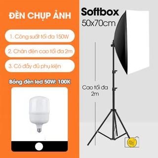 Đèn chụp ảnh studio softbox 50x70cm chụp sản phẩm sản phẩm (KHÔNG KÈM BÓNG)