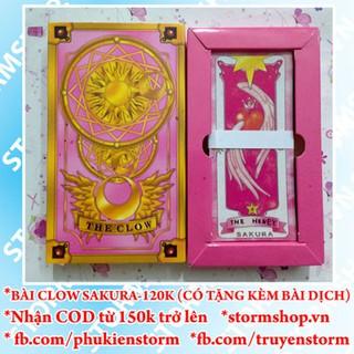 Bài Clow Card SAKURA 2 màu hồng và nâu