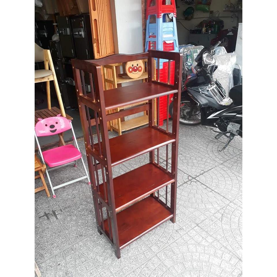 kệ sách gỗ 4 tầng ngang 50cm màu Nâu - Lê Tâm Furniture