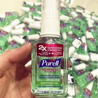 Gel rửa tay khô Purell Advanced Hand Sanitizer 2 oz 59ml (loại vòi bấm tiết kiệm)