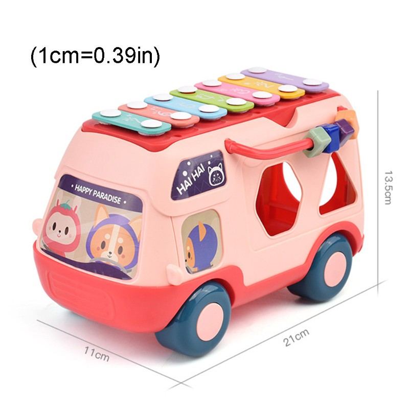 Musical Instrument Baby Toy Knock Piano Music Bus Shape Sorter Early Education