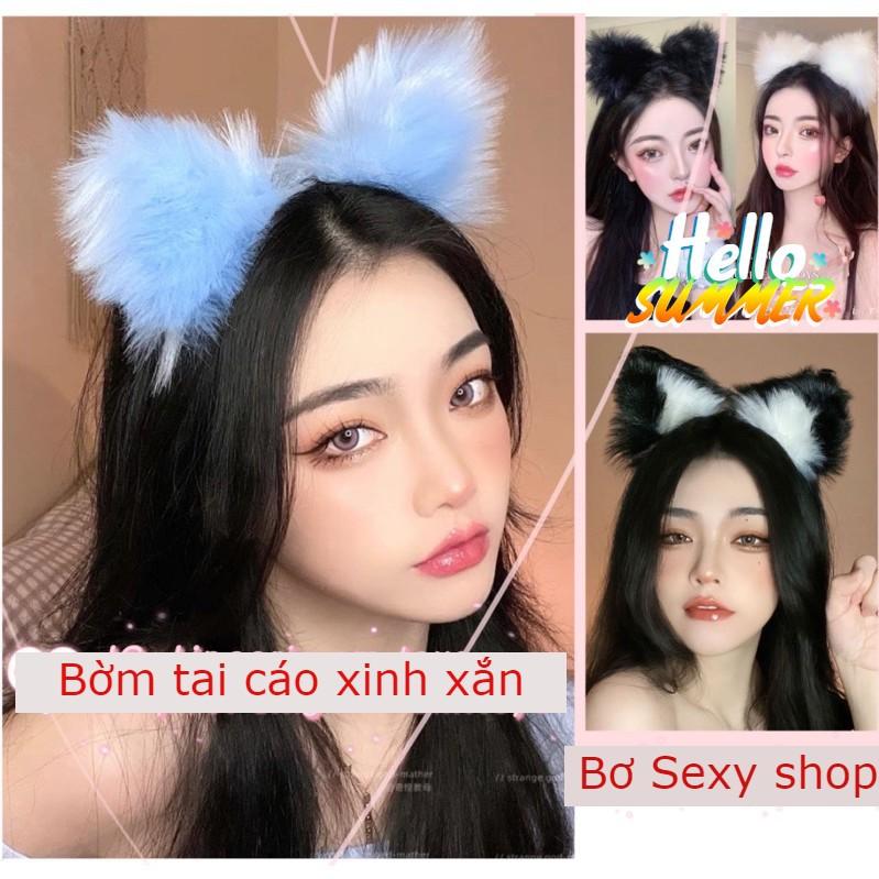 Bờm Tai Cáo/ Tai Mèo lông 🐈🐱(kèm video+ảnh thật sản phẩm