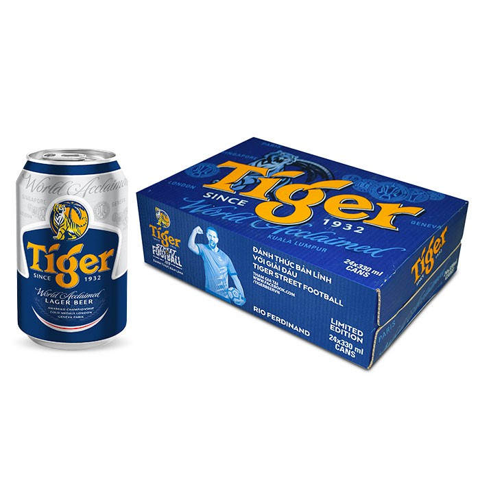 [Mã GRO1TG15 giảm 15K đơn 300K] Thùng bia Tiger 24 lon 330ml