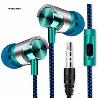 Tai nghe nhét tai dạng dây bện cho điện thoại máy tính máy MP3