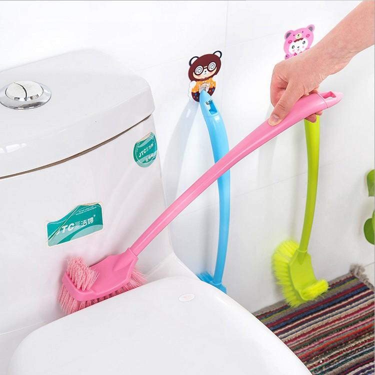 Bộ chổi cọ toilet 2 đầu siêu sạch