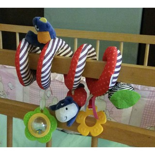 Colorful bed winding / lathe hanging BB / rattle / teether purple bird bed hangi