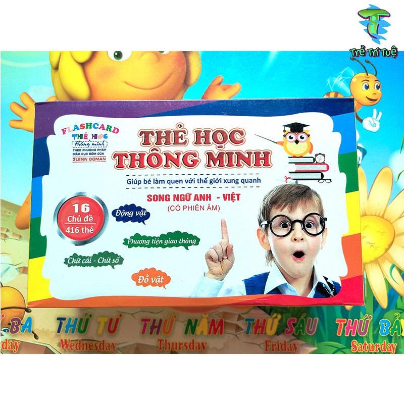 💎 Flashcard Glenn Doman 💎- Thẻ học tiếng anh thông minh - Đồ chơi giáo dục cho bé sơ sinh 1 2 3 tuổi loại to nhỏ cứng
