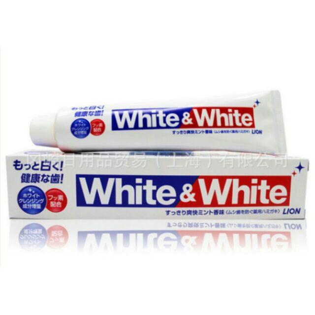 Kem đánh răng White and White Lion Nhật 150g