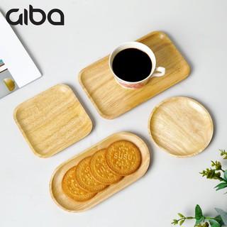 Dĩa gỗ chữ nhật GIBA, Khay gỗ tròn nhỏ decor - Lót ly gỗ, Khay gỗ đựng đồ ăn thumbnail