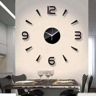 [ Ready Stock ] DIY Silent Non-Ticking Kitchen WallClocks/ 3D Acrylic Brief Modern Design Times Quartz Clock/ Mirror Frameless Wall Clock Kit for Home Living Room Bedroom Office Decor