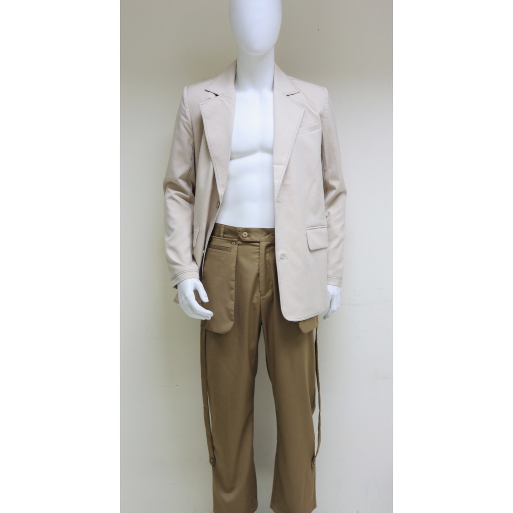 Quần ống rộng phốí túi dài Can De Blanc (Brown Pocket Pants)