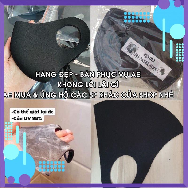 Khẩu Trang Vải Su 3D, Chất Liệu Poly, Mềm, Ôm Mặt, Bảo Vệ Sức Khỏe