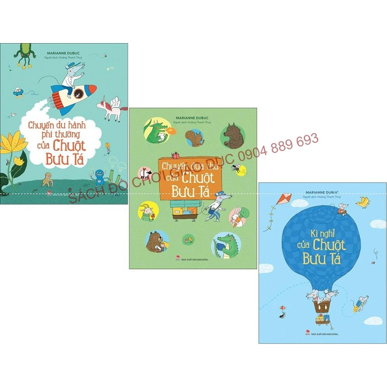 Sách - Chuột bưu tá - Chọn lẻ. Sách tranh giúp bé phát triển khả năng ngôn ngữ, trí tưởng tượng và ó