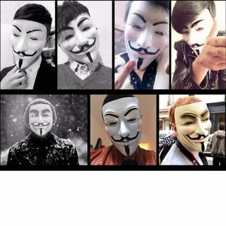 [SALE NGÀY CUỐI] Mặt nạ Hacker mặt nạ Anonymous hàng dẹp loại 1 (Trắng)-k28