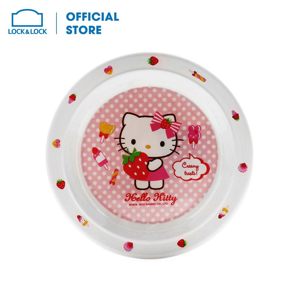 Đĩa tròn bằng nhựa Lock&Lock Hello Kitty Ø190 x 22mm [LKT460]