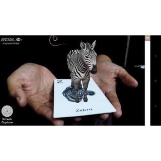 Bộ thẻ animal 4D+ Vừa học vừa chơi Khỏi mất công dùng 2 điện thoại Bộ 31 thẻ kích thước 7*10cm