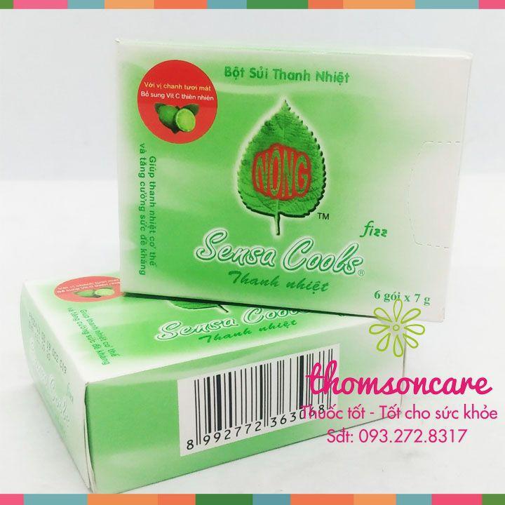 Bột sủi thanh nhiệt Sensacool - hỗ trợ giảm nhiệt miệng, bổ sung Vitamin C