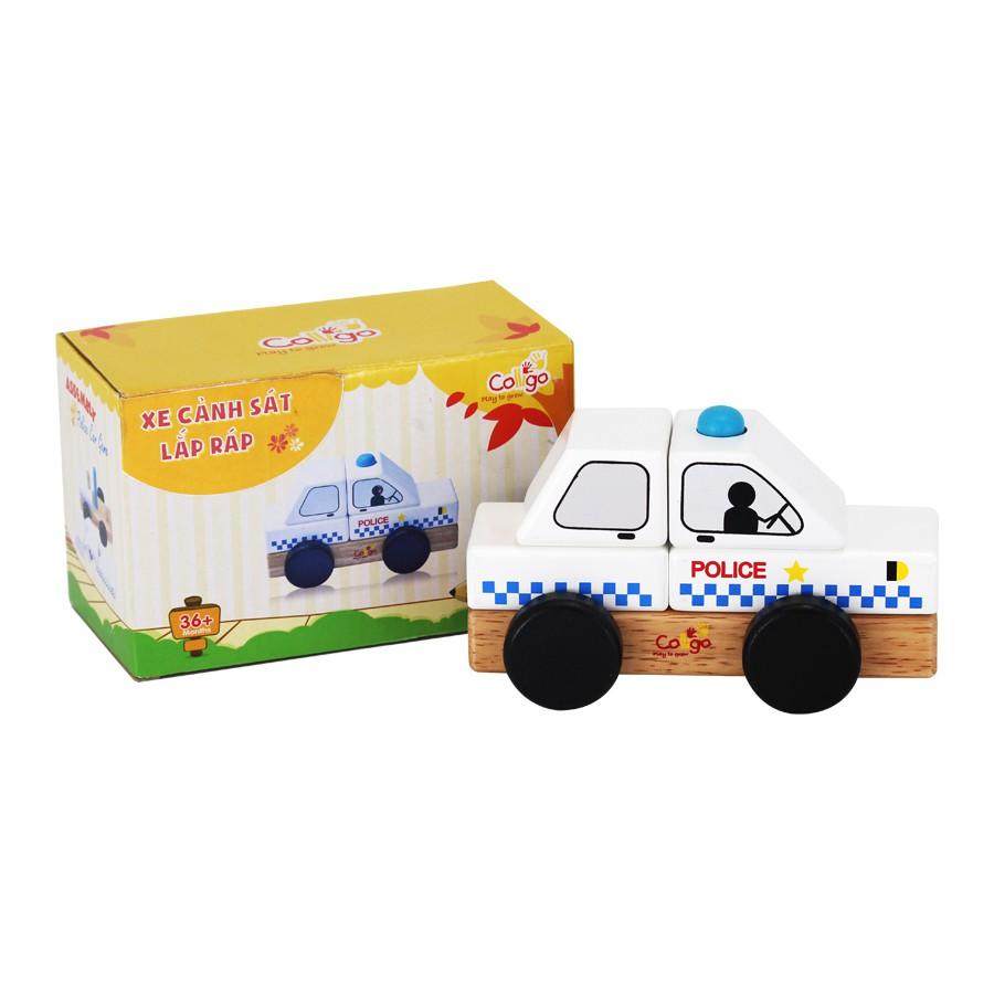 Đồ chơi gỗ lắp ghép mô hình Xe cảnh sát Colligo 30222A