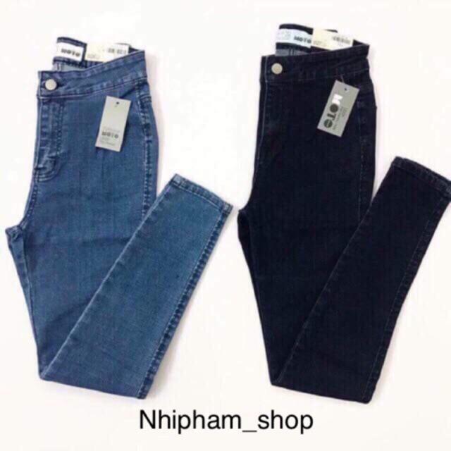 [Mã WASEPRN hoàn 20% xu đơn 99k] Quần jeans nữ cạp cao trên rốn siêu co giãn form dáng ôm