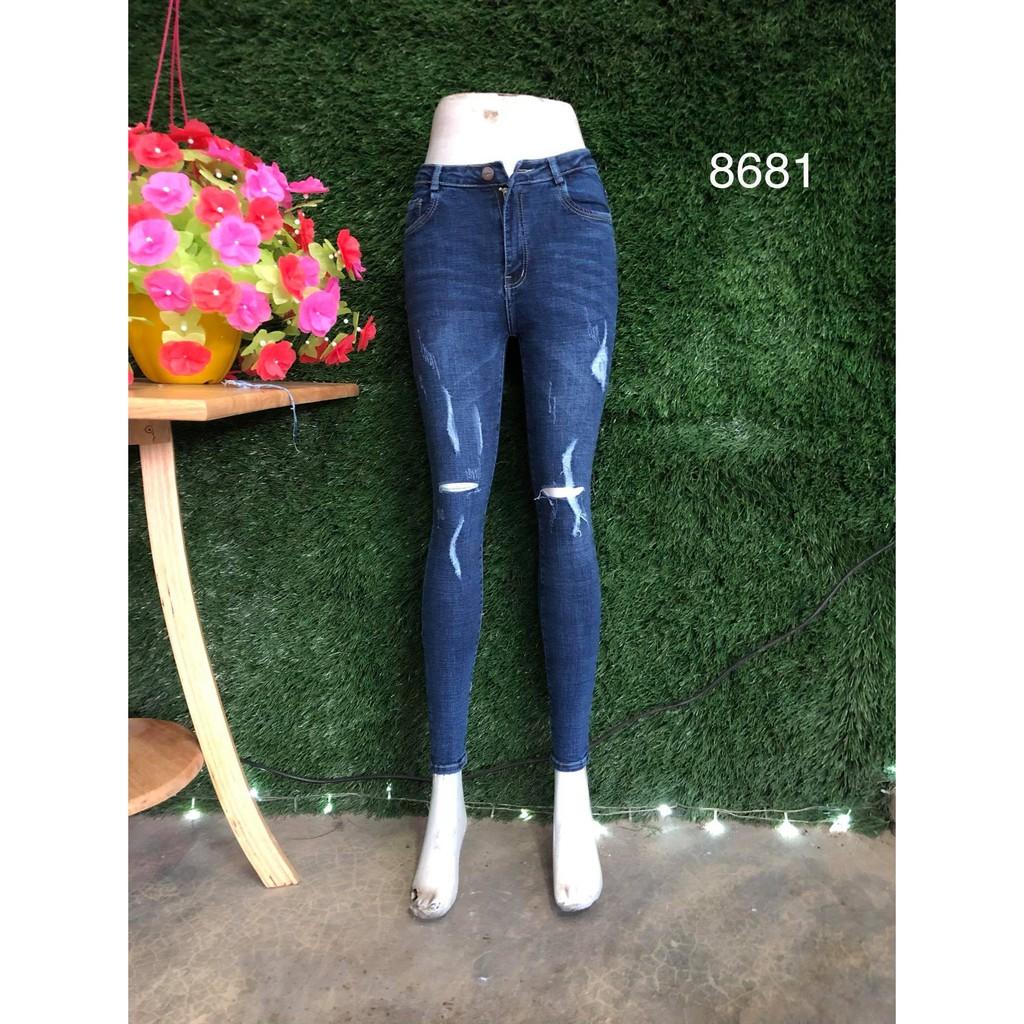 quần jean nữ rách mã 8681