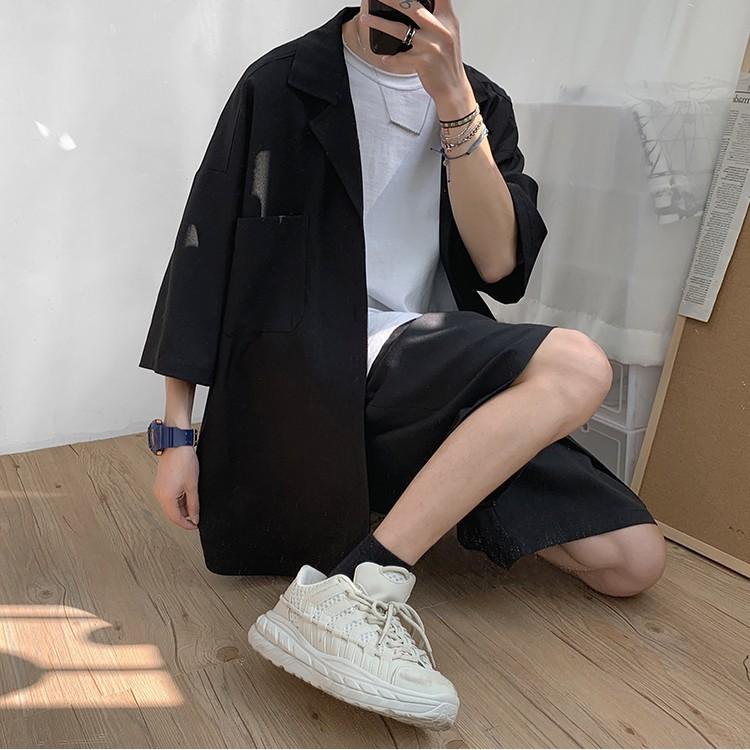 Set Blazer Nam Form Rộng Kèm Quần Short  Bộ Đồ Nam Mùa Hè phong cách Hàn Quốc - SET1 MrHero