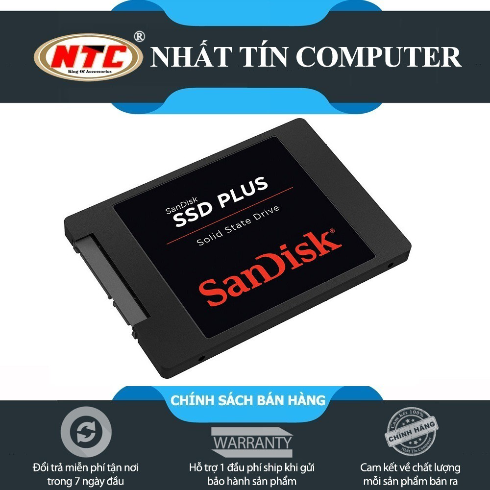 Ổ cứng SSD Sandisk Plus 240GB SATA III 520MB/s