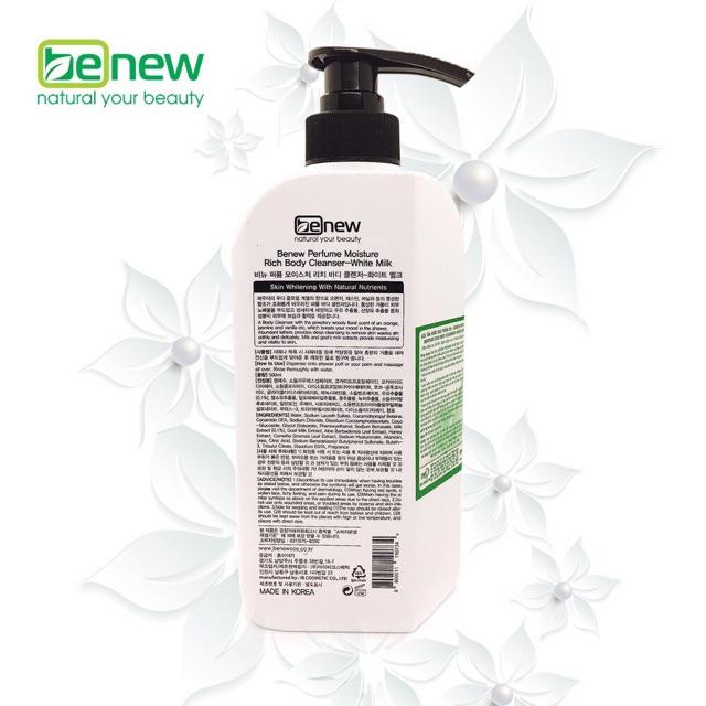 [Chính Hãng] Combo Dưỡng thể + Sữa tắm trắng da hương nước hoa Benew [450ml + 500ml]