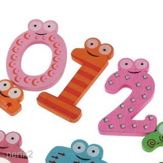 Wooden Cartoon Animal Fridge Magnet 10 Number kid Baby Math Educational Toys