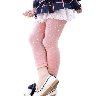 Quần legging chấm bi thời trang năng động cho bé gái