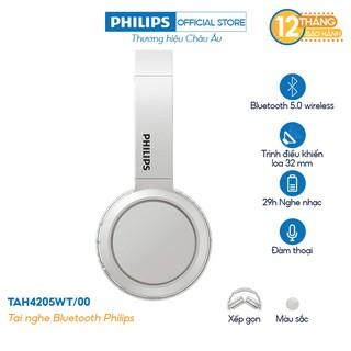 [Mã ELREHOT giảm 10% đơn 100K] Tai nghe Philips Bluetooth TAH4205WT/00 - Màu trắng - Hàng Chính Hãng