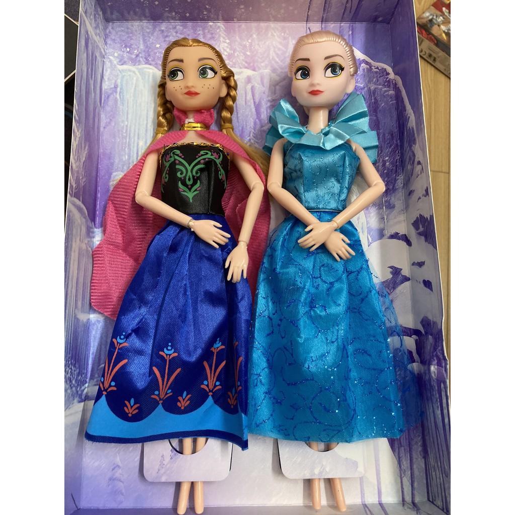 Bộ 2 Búp Bê Công Chúa Elsa và Anna size to 30cm