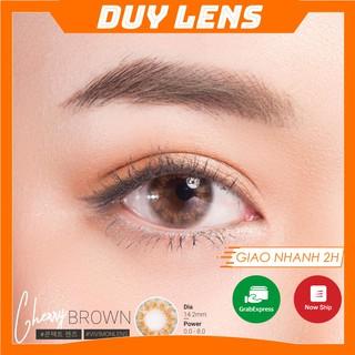 Kính áp tròng Cherry Brown FREESHIP Lens Vivimoon độ cận 7.5 màu nâu cam lốc xoáy thumbnail