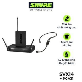 Micro không dây Shure SVX14/PGA31 - Hàng chính hãng - Dùng cho thu âm chuyên nghiệp cho hội nghị, thuyết trình, đào tạo