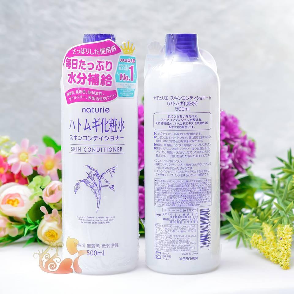 Nc Cn Bng Da Nht Naturie Hatomugi Skin Conditioner 500ml