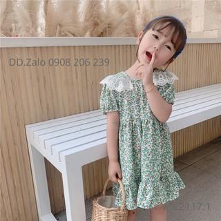 Đầm bé gái hoa nhí cổ ren 10 đến 26kg