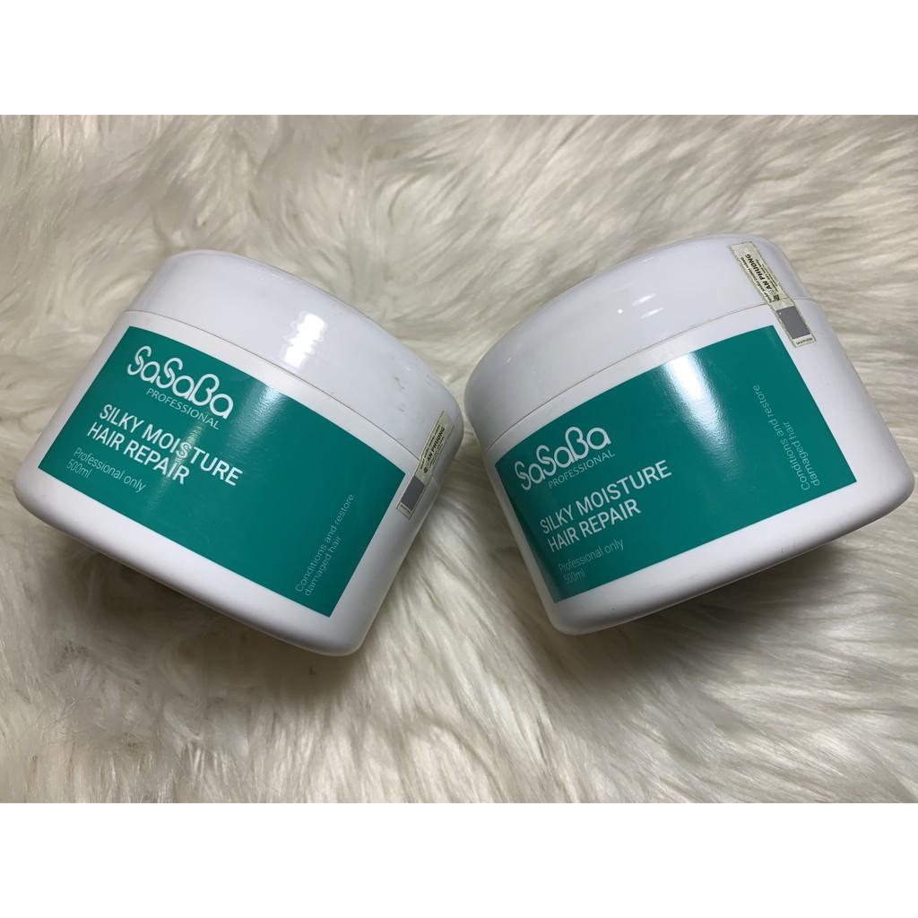 Hấp Dầu Sasaba Silky Moisture Hair Repair 500ml