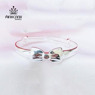 Lắc Bạc Ta Trẻ Em Hình Nơ - Minh Canh Jewelry