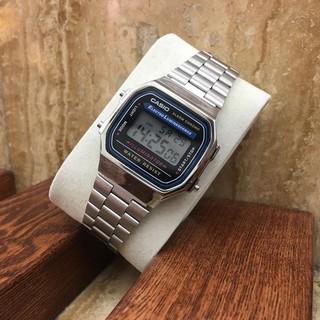Đồng hồ nam Casio A168 Full Box cổ điển, chống nước, dây thép không gỉ, lịch sự, thời trang – haizz.shop