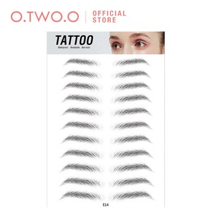 O.TWO.O Eyebrow Stickers Waterproof 8 Types Men Women 11.5 7 1cm 11 Pairs thumbnail