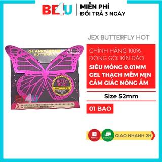 Bao cao su 001 mỏng trơn Jex Butterfly hot Nhật Bản cao cấp Hộp 1 bcs 0.01mm siêu mỏng Chính Hãng thumbnail
