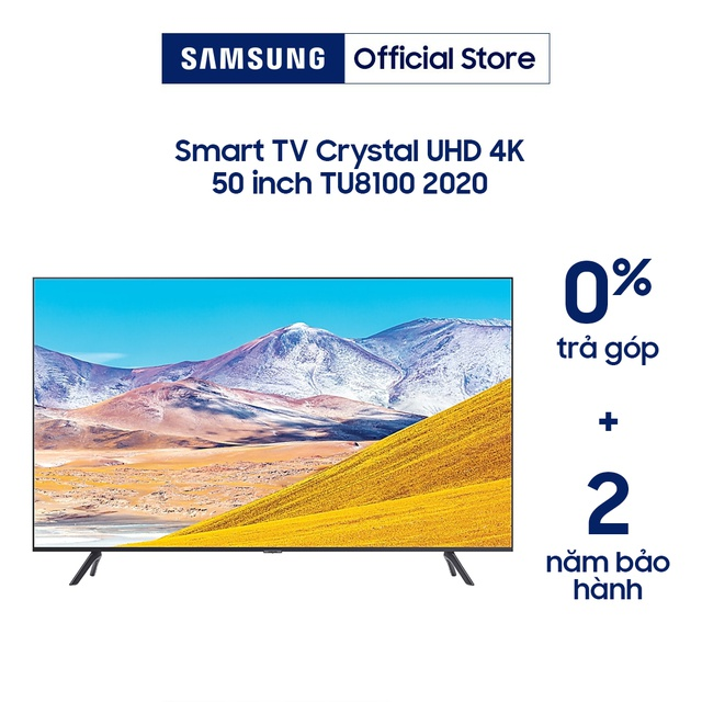 [Nhập ELSAM30 giảm 5% đơn 5TR] Smart Tivi 4K UHD Samsung 50 inch UA50TU8100KXXV