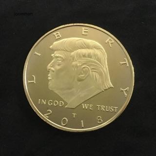 Đồng xu mạ vàng dập nổi hình Tổng Thống Trump