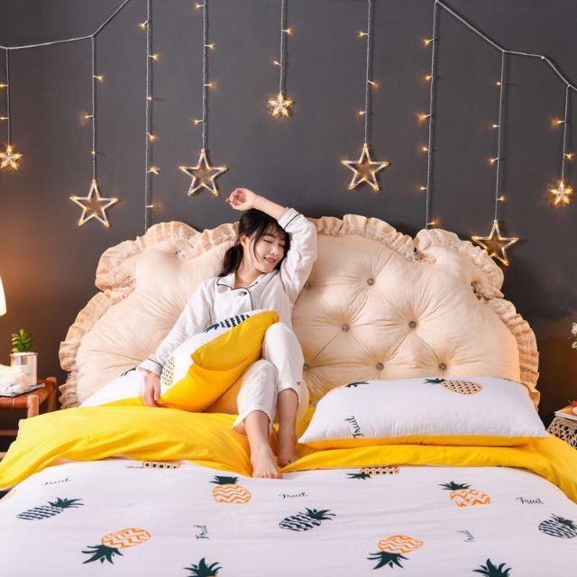 """Tựa kê đầu giường phong cách """"Hoàng Gia"""" chanh xả size 1m5×60cm"""