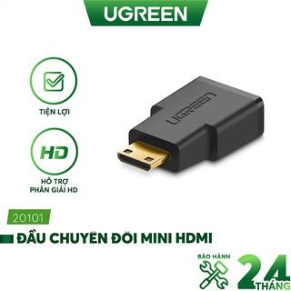 Đầu Chuyển mini HDMI cái ra HDMI đực dài 25mm UGREEN 20101 (màu đen) thumbnail
