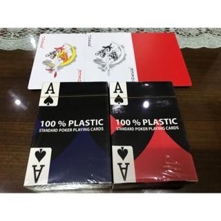 Combo 2 bộ bài nhựa 100% plastic hàng nhập mỹ chống nước, chống trơn, chống gập gãy