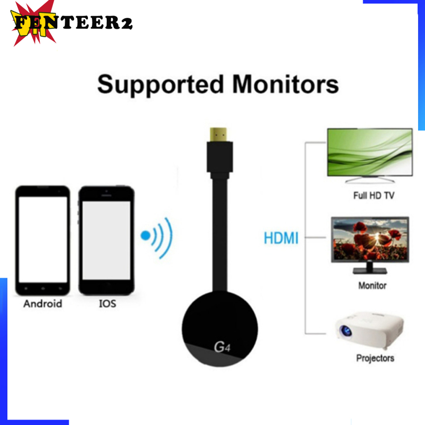 (Fenteer2 3c) Wifi Display Dongle Dongle Adapter Hd