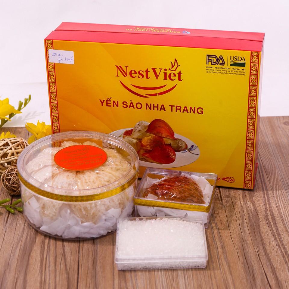 Yến sào Nest Việt 100g Yến tinh chế Nha Trang+ 12g yến huyết + đường