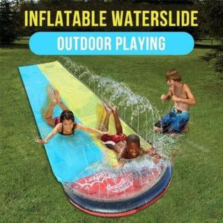 PVC Inflatable Double Slide Children's Lawn Water Slide Y0I5