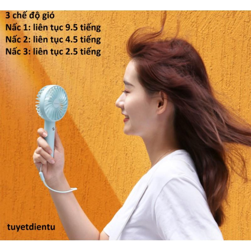 Quạt tích điện mini có thể để bàn Yoobao F3S siêu xinh, dung lượng 2000mAh, liên tục 9 tiếng
